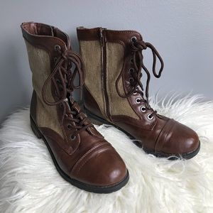 Bamboo Boots Woman's Size 6 Color Brown